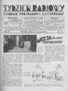 Tydzień Radjowy. 1930 R.4 nr34