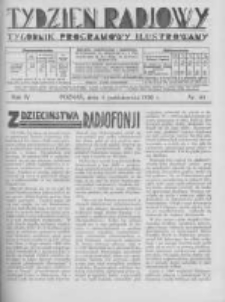 Tydzień Radjowy. 1930 R.4 nr40