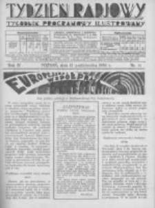Tydzień Radjowy. 1930 R.4 nr41