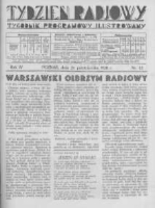 Tydzień Radjowy. 1930 R.4 nr43