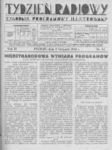 Tydzień Radjowy. 1930 R.4 nr44