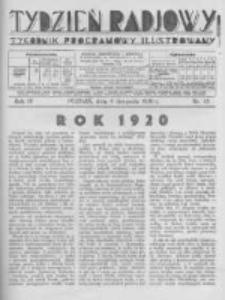 Tydzień Radjowy. 1930 R.4 nr45