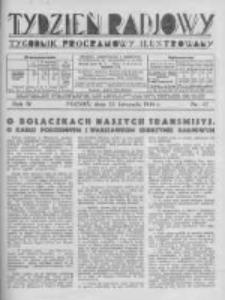 Tydzień Radjowy. 1930 R.4 nr47