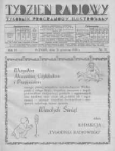 Tydzień Radjowy. 1930 R.4 nr51