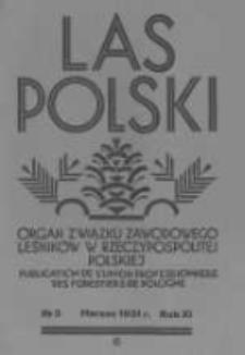 Las Polski. 1931 R.11 nr3