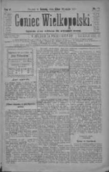 Goniec Wielkopolski: najtańsze pismo codzienne dla wszystkich stanów 1881.01.22 R.5 Nr17