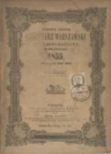 Józefa Unger Kalendarz Warszawski Popularno-Naukowy na rok zwyczajny 1855, który ma dni 365