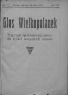 Głos Wielkopolanek: tygodnik społeczno-narodowy dla kobiet wszystkich stanów 1924.01.06 R.17 Z.2