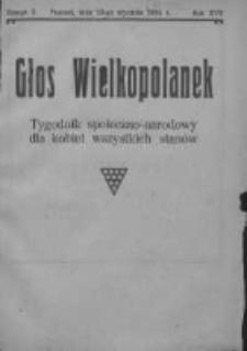 Głos Wielkopolanek: tygodnik społeczno-narodowy dla kobiet wszystkich stanów 1924.01.13 R.17 Z.3