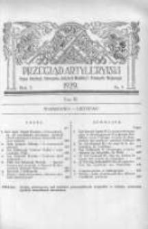 Przegląd Artyleryjski: organ artylerji, uzbrojenia, artylerji morskiej i przemysłu wojennego 1929 listopad R.7 T.9 Nr5