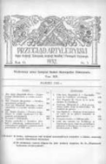 Przegląd Artyleryjski: organ artylerji, uzbrojenia, artylerji morskiej i przemysłu wojennego 1932 marzec R.10 T.14 Nr3