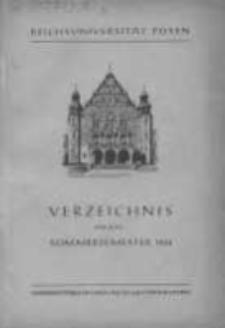 Personen- und Vorlesungs-Verzeichnis der Reichsuniversität Posen. Verzeichnis fűr das Sommersemester 1944