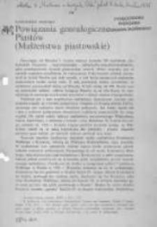 Powiązania genealogiczne Piastów (małżeństwa piastowskie)