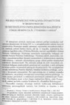 Polsko-niemieckie powiązania dynastyczne w średniowieczu ze szczególnym uwzględnieniem małżeństw córek Siemowita IV, Cymbarki i Amelii