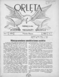 Orlęta: miesięcznik polskiej młodzieży szkolnej 1933 marzec R.5 Nr7
