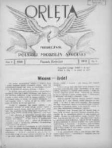 Orlęta: miesięcznik polskiej młodzieży szkolnej 1933 kwiecień R.5 Nr8