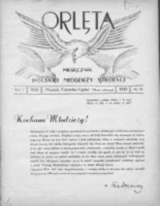 Orlęta: miesięcznik polskiej młodzieży szkolnej 1933 maj R.5 Nr9