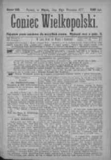Goniec Wielkopolski: najtańsze pismo codzienne dla wszystkich stanów 1877.09.21 Nr169