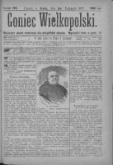 Goniec Wielkopolski: najtańsze pismo codzienne dla wszystkich stanów 1877.11.07 Nr208