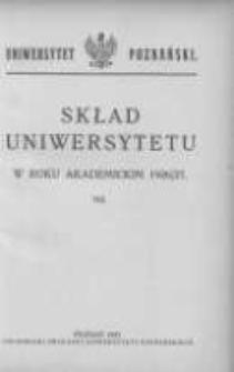 Uniwersytet Poznański: skład osobowy: rok akademicki 1926/27