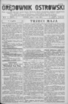 Orędownik Ostrowski: pismo na powiat Ostrowski oraz miast Ostrowa, Odolanowa, Sulmierzyc, Raszkowa i Skalmierzyc 1936.05.01 R.85 Nr35