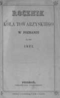 Rocznik Koła Towarzyskiego w Poznaniu na rok 1871