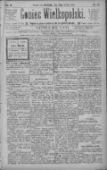 Goniec Wielkopolski: najtańsze pismo codzienne dla wszystkich stanów 1885.02.22 R.9 Nr43