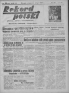 Rekord Polski: dawniej Goniec Wielkopolski: niezależny dziennik ilustrowany 1932.02.04 R.56 Nr33
