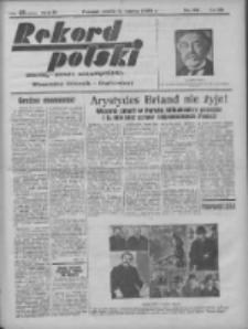 Rekord Polski: dawniej Goniec Wielkopolski: niezależny dziennik ilustrowany 1932.03.09 R.56 Nr62