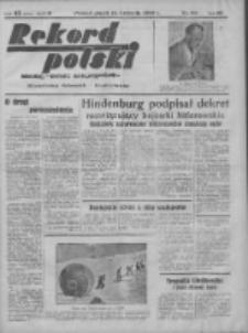 Rekord Polski: dawniej Goniec Wielkopolski: niezależny dziennik ilustrowany 1932.04.15 R.56 Nr93