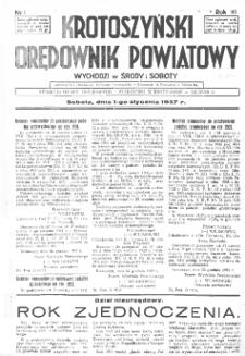 Krotoszyński Orędownik Powiatowy 1937.01.01 R.63 Nr1