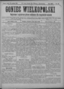 Goniec Wielkopolski: najtańsze pismo codzienne dla wszystkich stanów 1900.12.22 R.24 Nr291