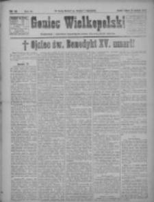 Goniec Wielkopolski: najtańsze pismo codzienne dla wszystkich stanów 1922.01.24 R.45 Nr19