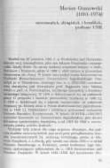 Marian Gumowski (1881-1974) numizmatyk, sfragistyk i heraldyk, profesor UMK
