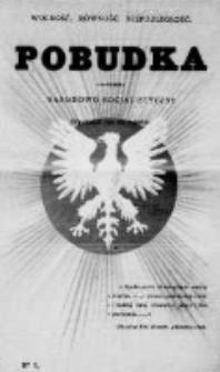 Pobudka. Czasopismo narodowo-socyalistyczne. 1889 R.1 nr1