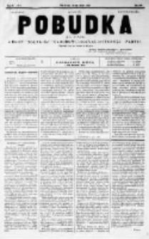 Pobudka. Czasopismo narodowo-socyalistyczne. 1891 R.3 nr5