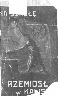 Kalendarz na Szkołę Rzemiosł w Kaliszu na rok zwyczajny 1909