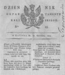 Dziennik Departamentu Kaliskiego. 1809.04.12 nr15