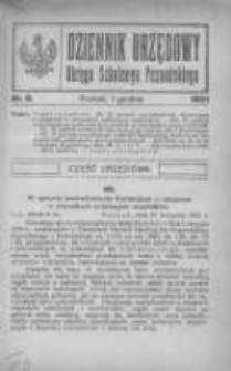 Dziennik Urzędowy Okręgu Szkolnego Poznańskiego 1921.12.01 Nr9