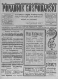 Poradnik Gospodarski. Pismo Tygodniowe. 1921.09.18 R.32 nr38