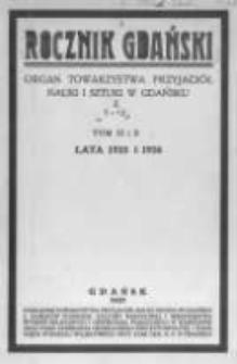 Rocznik Gdański. Organ Towarzystwa Przyjaciół Nauki i Sztuki w Gdańsku. 1935-1936 T.9-10