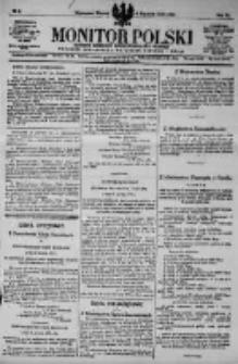 Monitor Polski. Dziennik Urzędowy Rzeczypospolitej Polskiej. 1923.01.09 R.6 nr6
