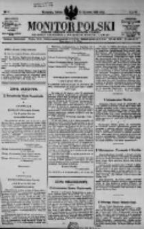 Monitor Polski. Dziennik Urzędowy Rzeczypospolitej Polskiej. 1923.01.13 R.6 nr10