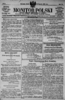 Monitor Polski. Dziennik Urzędowy Rzeczypospolitej Polskiej. 1923.01.24 R.6 nr19