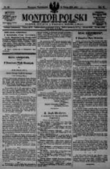 Monitor Polski. Dziennik Urzędowy Rzeczypospolitej Polskiej. 1923.03.19 R.6 nr64