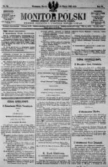 Monitor Polski. Dziennik Urzędowy Rzeczypospolitej Polskiej. 1923.03.30 R.6 nr74