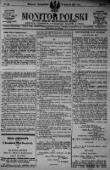 Monitor Polski. Dziennik Urzędowy Rzeczypospolitej Polskiej. 1923.04.16 R.6 nr86
