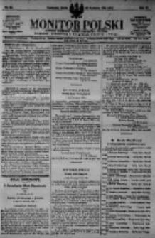 Monitor Polski. Dziennik Urzędowy Rzeczypospolitej Polskiej. 1923.04.25 R.6 nr94