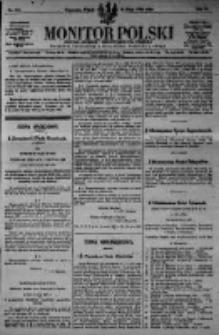 Monitor Polski. Dziennik Urzędowy Rzeczypospolitej Polskiej. 1923.05.18 R.6 nr111