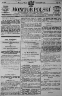 Monitor Polski. Dziennik Urzędowy Rzeczypospolitej Polskiej. 1923.06.05 R.6 nr124